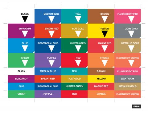 Riso Drum Color Stickers