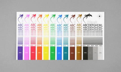 Riso Ink Colors Stencil